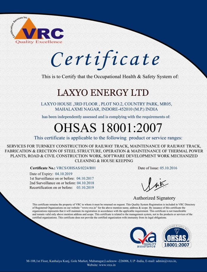 LAXYO-ENERGY-LTD-OHSAS-CERTIFICATE